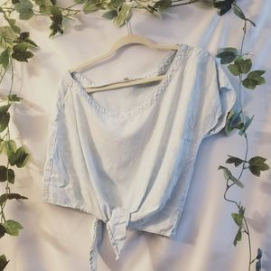 Cloth and stone. Size L tie knot crop